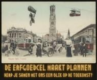 Prentbriefkaart 'Brugge in de  toekomst', 1900. © ErfgoedBrugge.be – collectie Stadsarchief